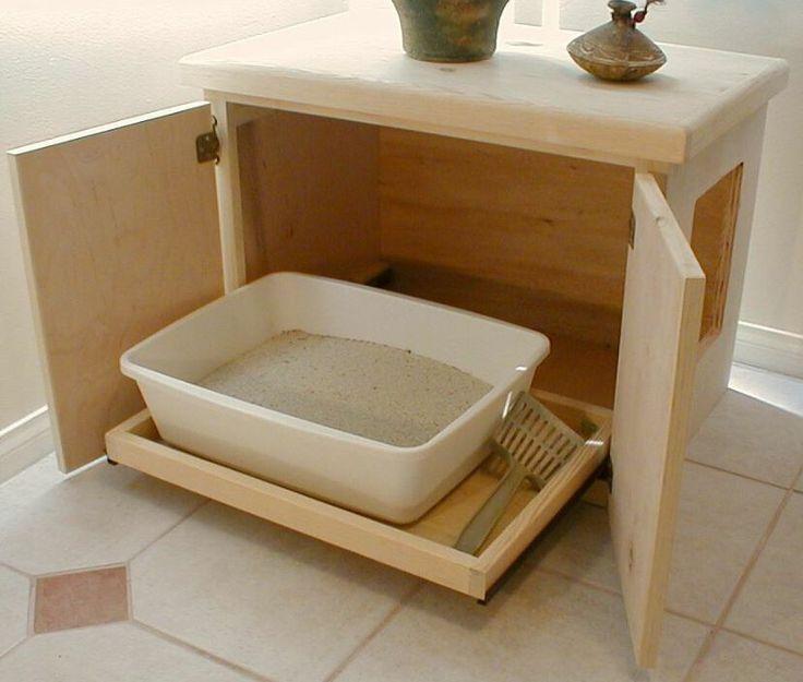 Как сделать своими руками закрытый туалет для кошек