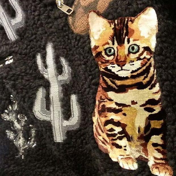 Бенгальские кошки на показе Dolce & Gabbana