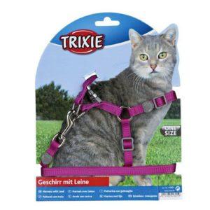 Шлейка для кошек TRIXIE с поводком Premium нейлон