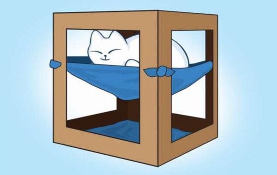 Домик для кошки с гамаком